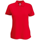 Поло Lady-Fit 65/35 Polo, красный_XS, 65% п/э, 35% х/б, 180 г/м2