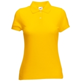 Поло Lady-Fit 65/35 Polo, солнечно-желтый_L, 65% п/э, 35% х/б, 180 г/м2