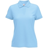 Поло Lady-Fit 65/35 Polo, небесно-голубой_L, 65% п/э, 35% х/б, 180 г/м2