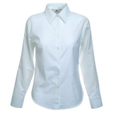 Рубашка New Lady-fit Long Sleeve Oxford Shirt, бел._M, 70% х/б, 30% п/э