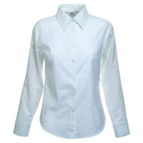 Руб. New Lady-fit Long Sleeve Oxford Shirt, бел._XL, 70% х/б, 30% п/э