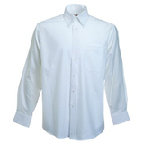 Руб. New Long Sleeve Oxford Shirt, бел._2XL, 70% х/б, 30% п/э