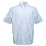 Руб. New Short Sleeve Oxford Shirt, бел._M, 70% х/б, 30% п/э
