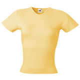 Футболка Lady-Fit Crew Neck T, св.-желт._XS, 95% х/б, 5% эластан