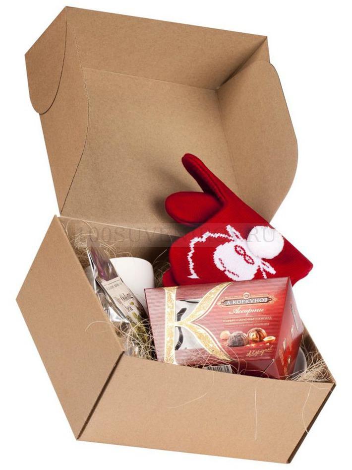 Фото Коробка подарочная «Крафт», самосборная, малая (сделано в России) d6c630fefb4