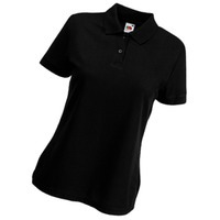 Поло Lady-Fit 65/35 Polo, черный_М, 65% п/э, 35% х/б, 180 г/м2