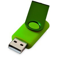 "Флеш-карта ""Rotate Metallic"" USB 2.0 на 4 Gb, лайм"