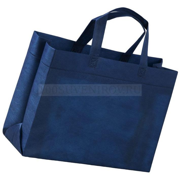 8fc3ec6183de Фирменные сумки синие для покупок SPAN 3D с логотипом   Сумки под заказ