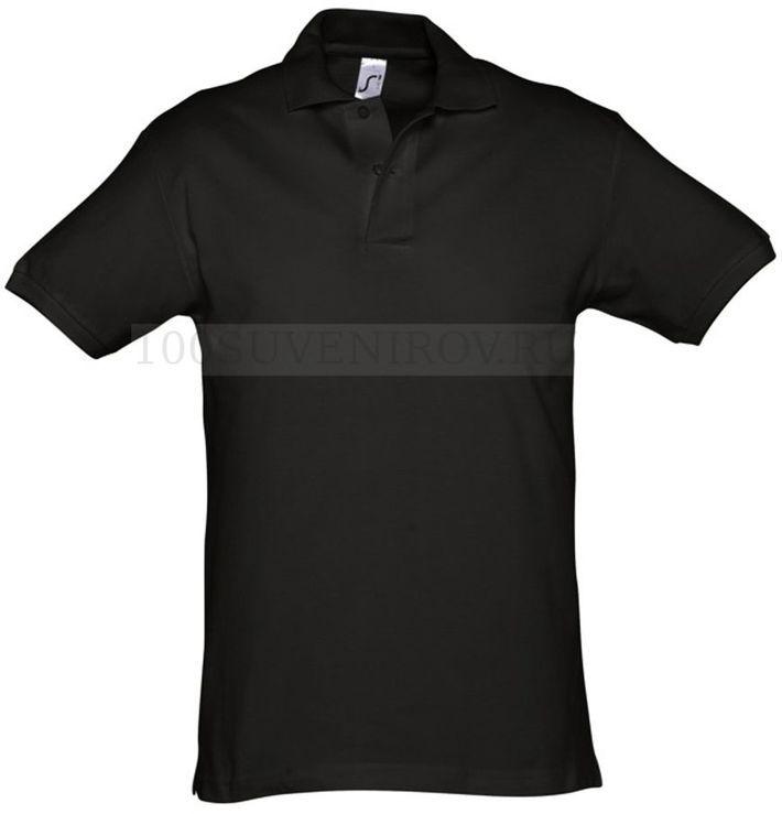 1e7ee756041 Модные мужские рубашки поло (L) черные из хлопка SPIRIT 240 под ...