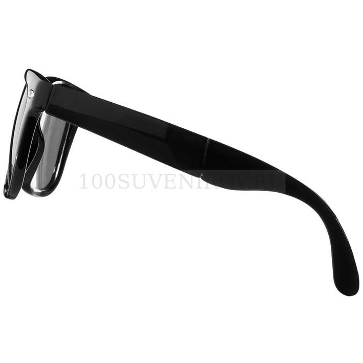 aacd84853508 Солнцезащитные очки черные из пластика SUN RAY складные
