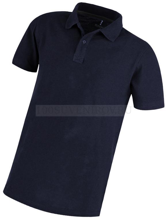 b263f908aa97dc6 Фото Мужская рубашка поло темно-синяя PRIMUS с вышивкой, размер XL