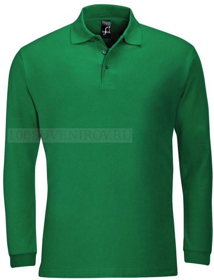 47a4a4cfd1b Фото Стильная мужская рубашка поло с длинным рукавом WINTER II 210  ярко-зеленая