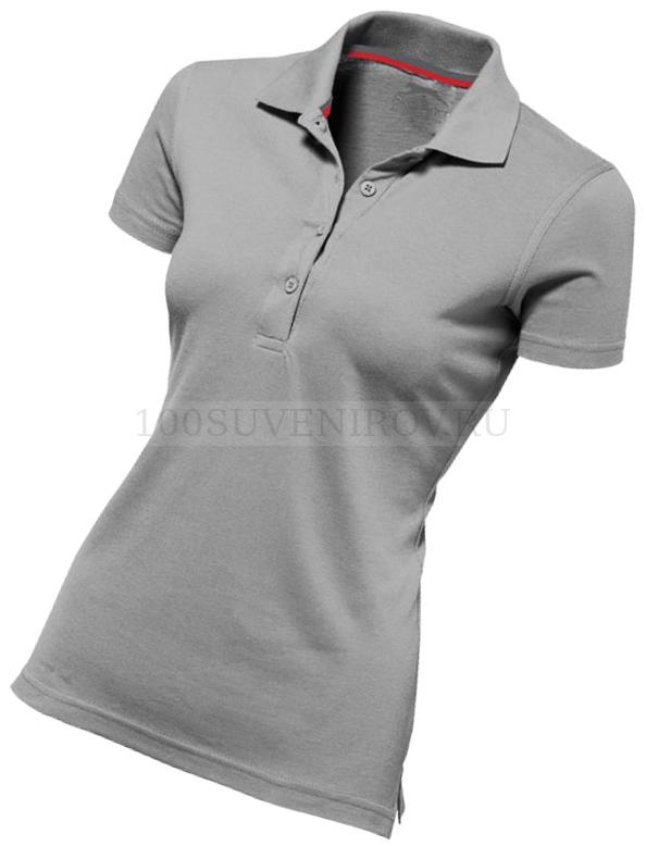 b4e27d37ebcc Фото Женская рубашка поло серая ADVANTAGE с термотрансфером, размер L
