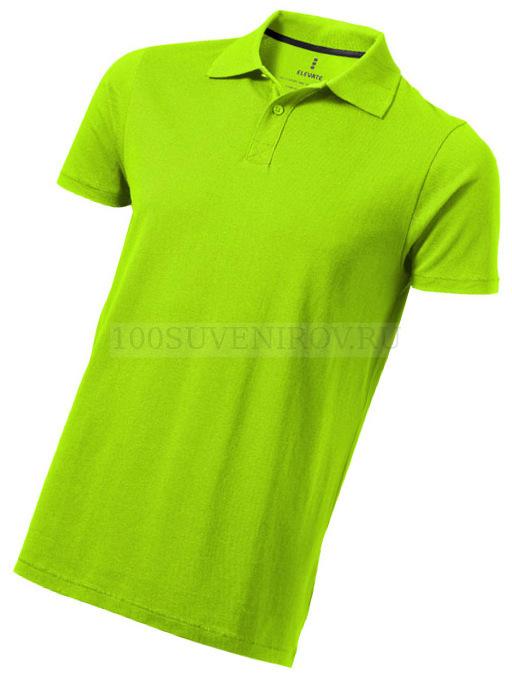 168abdb3706cd68 Рекламные мужские рубашки поло (XS) зеленые из хлопка SELLER с логотипом
