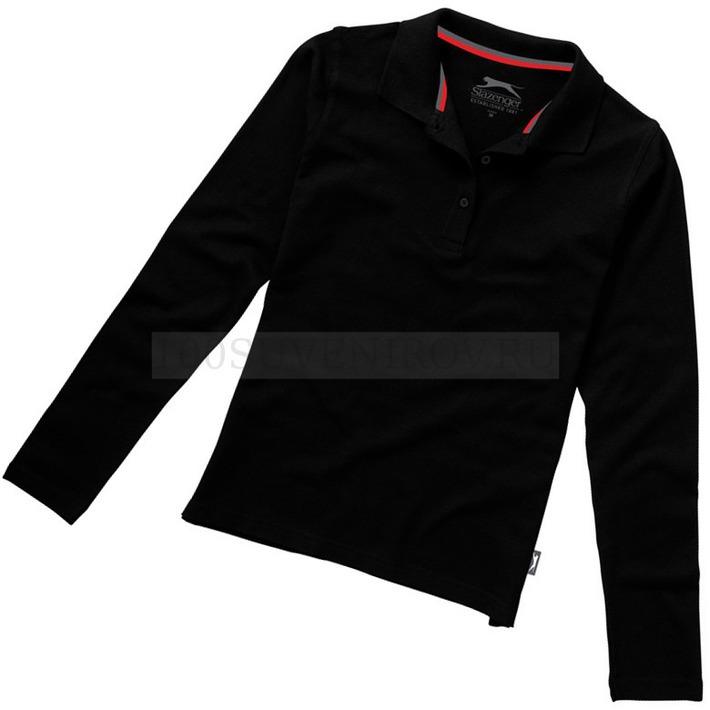 a556f1be451 Брендовые женские рубашки поло (2XL) черные POINT с длинным рукавом ...