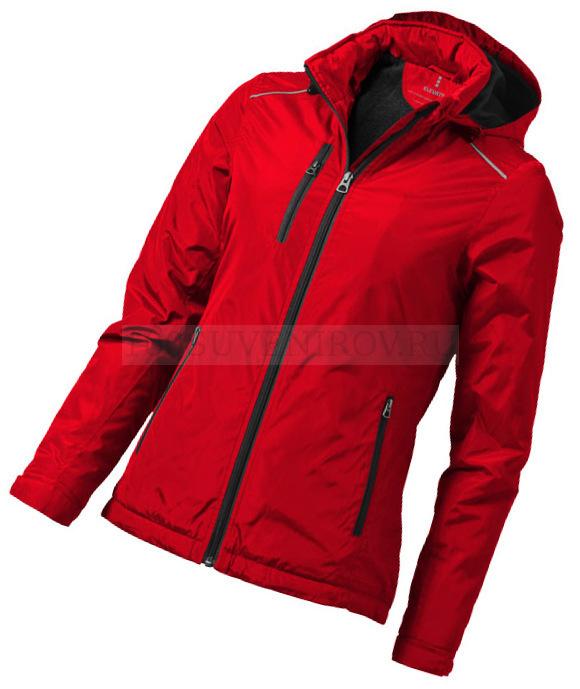 2fd5601bfab Фото Женская куртка красная SMITHERS с термотрансфером