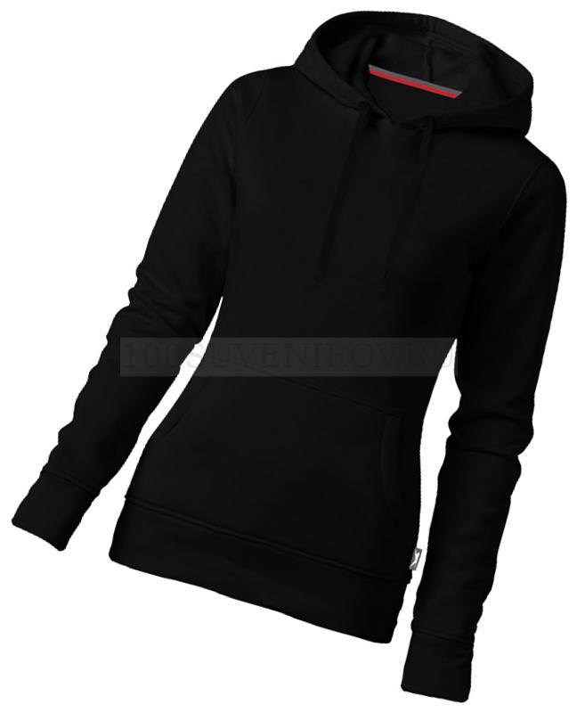 0959f768 Фото Женская толстовка черная из хлопка-худи ALLEY с капюшоном, размер L
