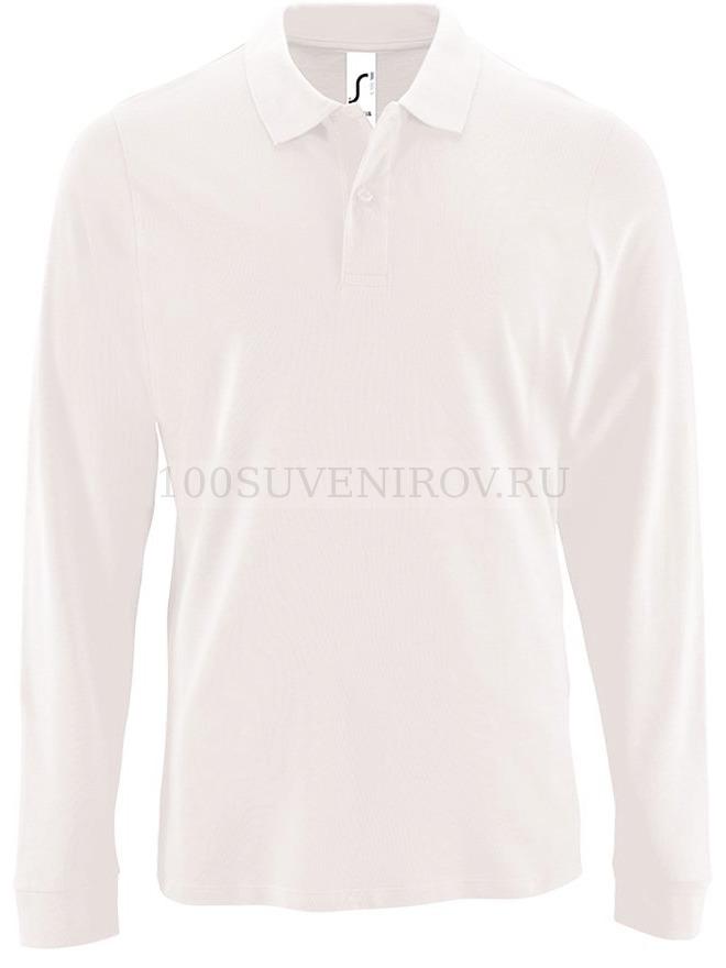 9f4f60e7fd62 Фото Мужская рубашка поло белая с длинным рукавом PERFECT LSL MEN, размер M