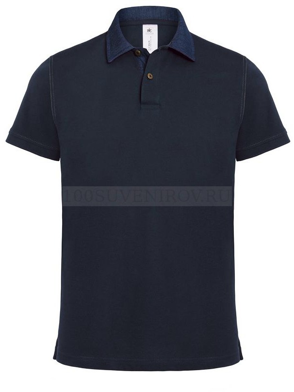 71b03be229a9c32 Фото Крутая мужская рубашка поло DNM FORWARD темно-синяя/джинс, размер L